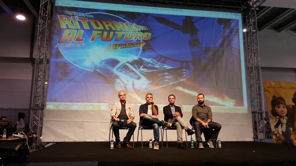 """Incontro su """"Ritorno al futuro"""" al Romics 2015"""