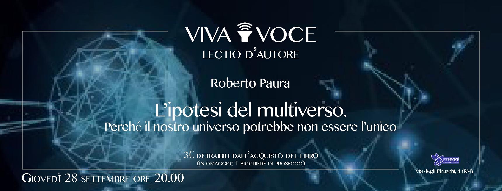 """Presentazione di """"Universi paralleli"""" a Roma – 28 settembre"""